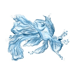 Water fish vector