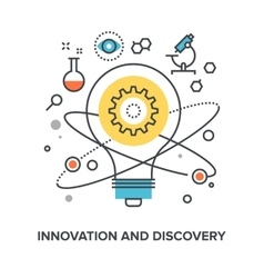 Innovation and discovery vector