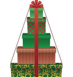 gift tree vector image