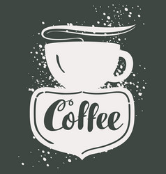 Sign cafe with cup vector