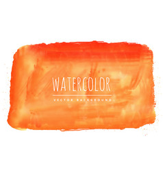 Orange watercolor stain background vector
