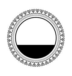 Round decoration stamp flourish element template vector