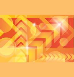 Orange yellow bright technology background vector