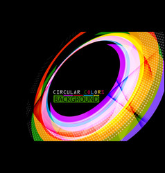 Circular colors geometric shape scene vector