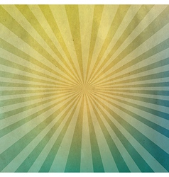 Pastel cardboard structure with sunburst vector