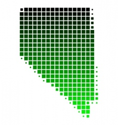 map of Nevada vector image