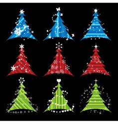 Christmas tree collections vector image