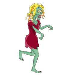 Female zombie vector