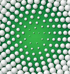 Circular frame made of golf balls vector