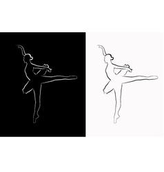 Image of a ballerina vector