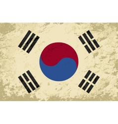 South korea flag grunge background vector