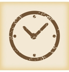 Grungy clock icon vector