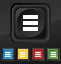List menu content view options icon symbol set of vector