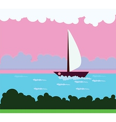 Ship in the water vector