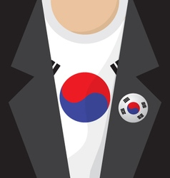 T-shirt with south korea flag vector