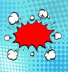 Boom comic book explosion vector