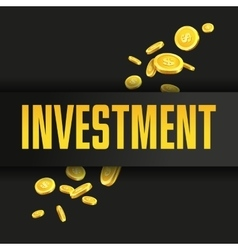 Investment poster or banner design template with vector