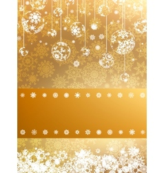 Golden Merry Christmas greeting card EPS 8 vector image