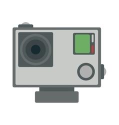Flat action camera icon vector