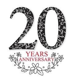 Anniversary Celebration Design vector image