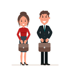 businessman and businesswoman or managers are vector image vector image