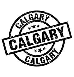 Calgary black round grunge stamp vector