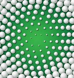 Circular frame made of golf balls vector image
