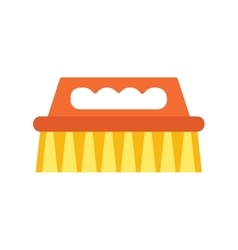 cleaning brush icon work equipment vector image vector image