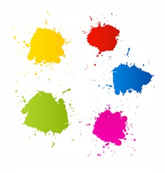 Colorful Blots Icons vector image vector image