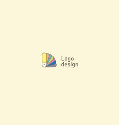 Creative logo or fan icon color palette vector