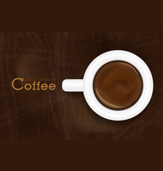 cup of espresso top view coffee background design vector image