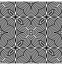 Design seamless monochrome waving pattern vector image vector image
