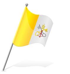 Flag of vatican vector