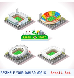 Game set 11 building isometric vector