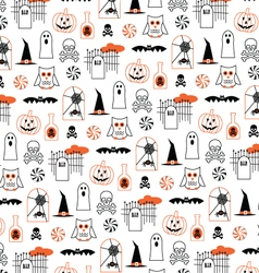 Halloween pumpkins and owls vector