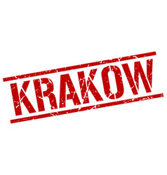 Krakow red square stamp vector