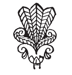 Lotus-palmette are probably representations of vector