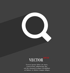 Magnifier glass icon symbol flat modern web design vector