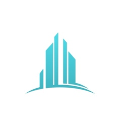 modern building business finance logo vector image vector image