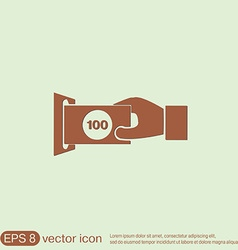 money ATM symbol issuing or receiving money from vector image vector image