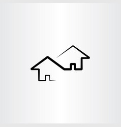 neighborhood house design element vector image