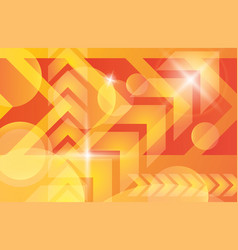 orange yellow bright technology background vector image