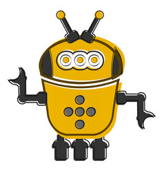 sketch of a cute robot vector image