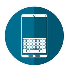 Smartphone keypad display shadow vector
