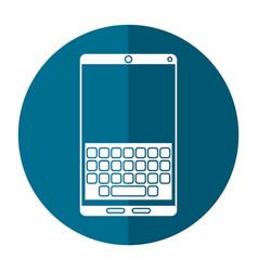 smartphone keypad display shadow vector image