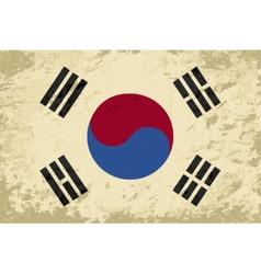 South Korea flag Grunge background vector image vector image