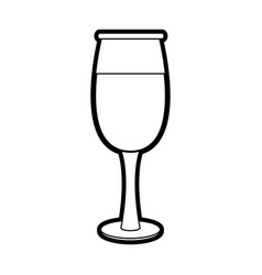 transparent wine glass icon vector image vector image