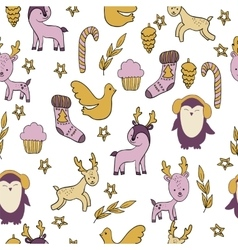 with animals and additional elements vector image vector image