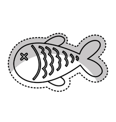 Fish meat isolated icon vector