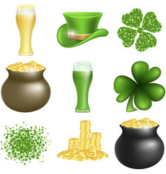 saint patricks day set vector image